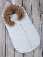 """Зимний конверт для новорожденного """"Snowman"""" белый"""