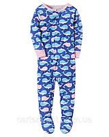 Детский комбинезон на молнии (пижама) с принтом Carters для девочки, 104 см (4Т)