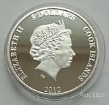 Острова Кука. Возвращение блудного попугая. 5 долларов 2012 г., фото 2