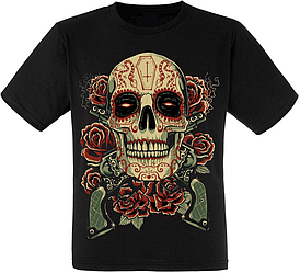 Футболка Skull, Roses, Guns