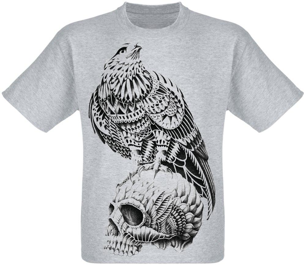 Футболка Skull with Eagle (меланж)