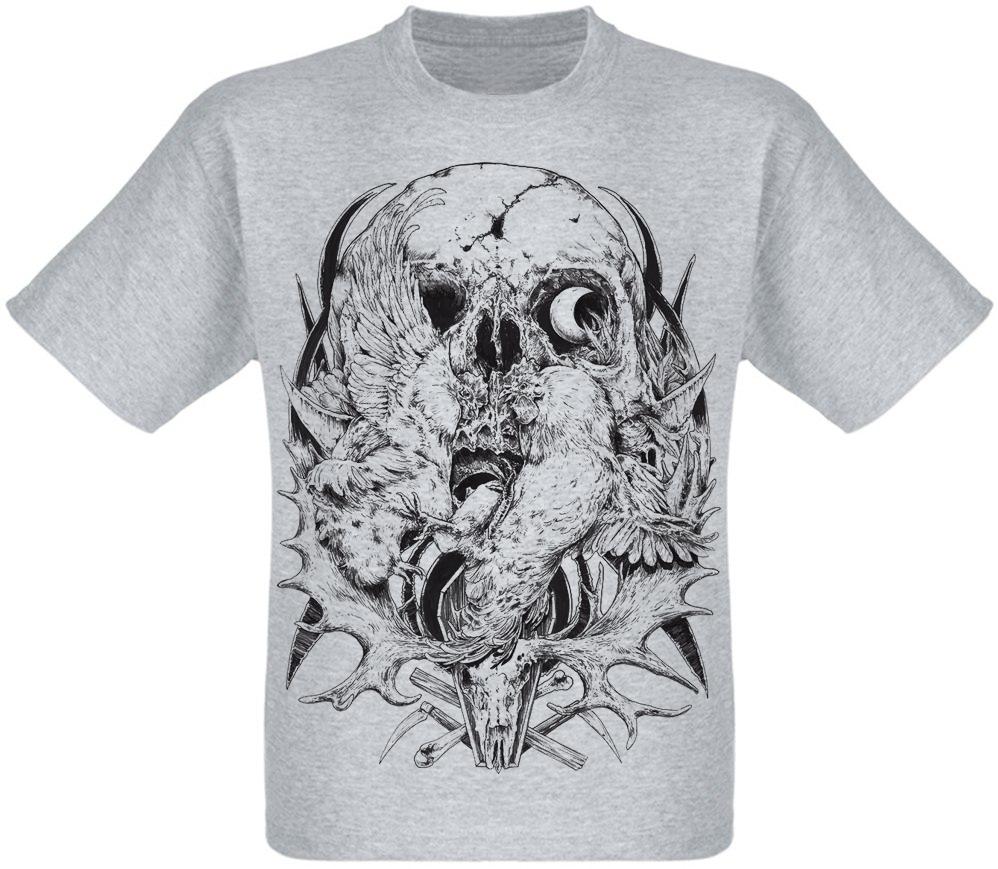 Футболка Skull and Birds (меланж)