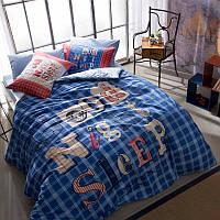 Постельное белье Tac Ranforce Teen - Good Night голубой