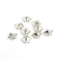 Клепка пирамида 8*8 мм пакет (10 шт.) (серые)