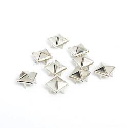 Клепка піраміда 8*8 мм пакет (10 шт) (сірі)