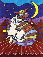 Набор для творчества 'Ниткография' Коты на крыше (NG-01-03), фото 1