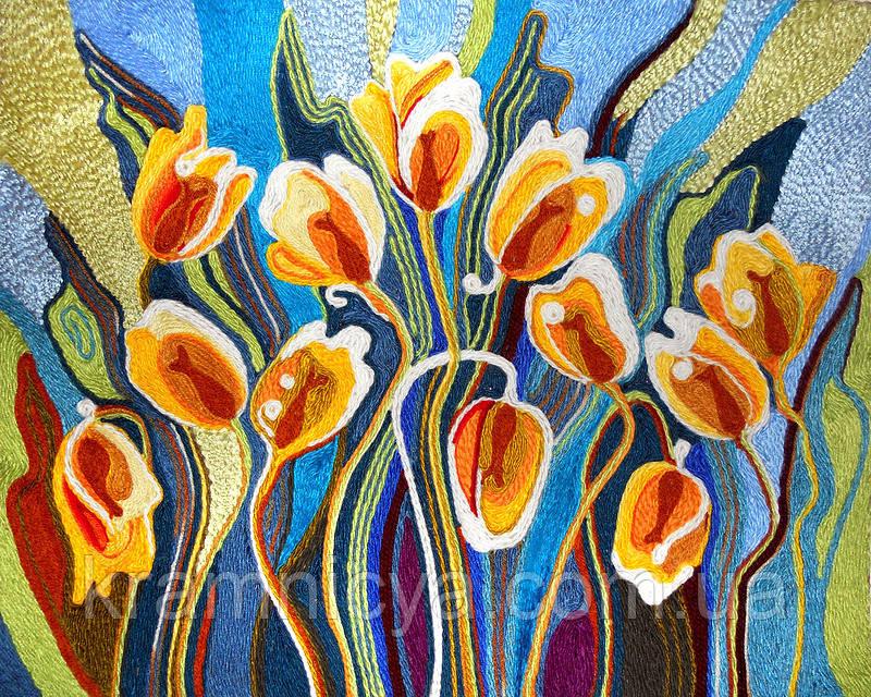 Набор для творчества 'Ниткография' Тюльпаны (NG-01-06)