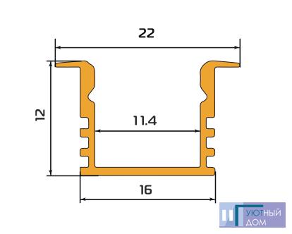 Алюминиевый профиль  cветодиодный ПС1-1