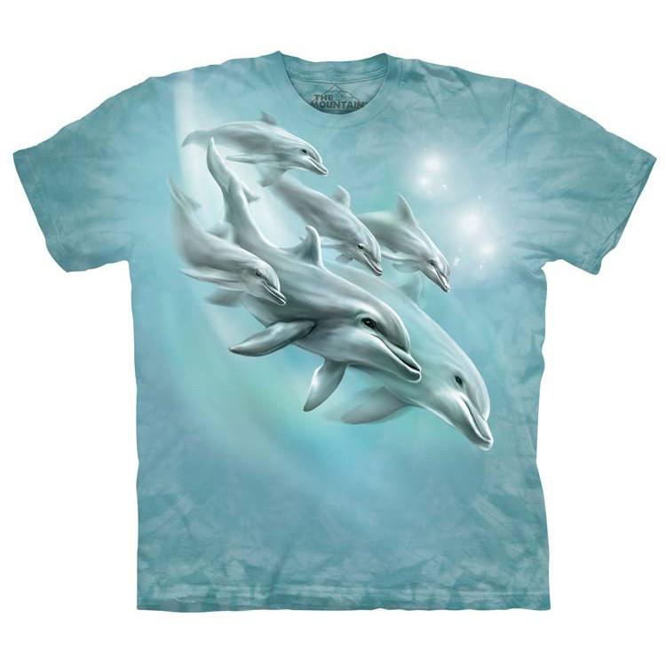 Футболка Дельфины (подростковый L)