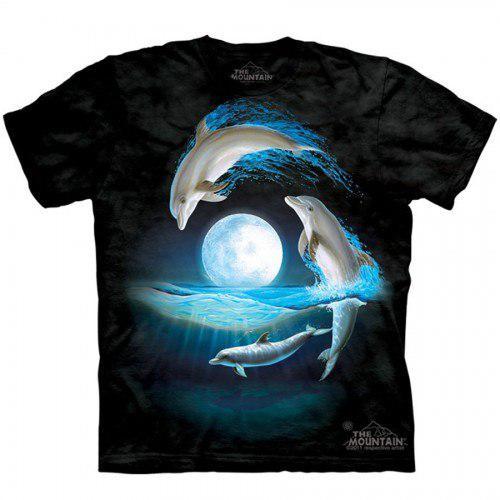 Футболка Дельфіни На Тлі Місяця S