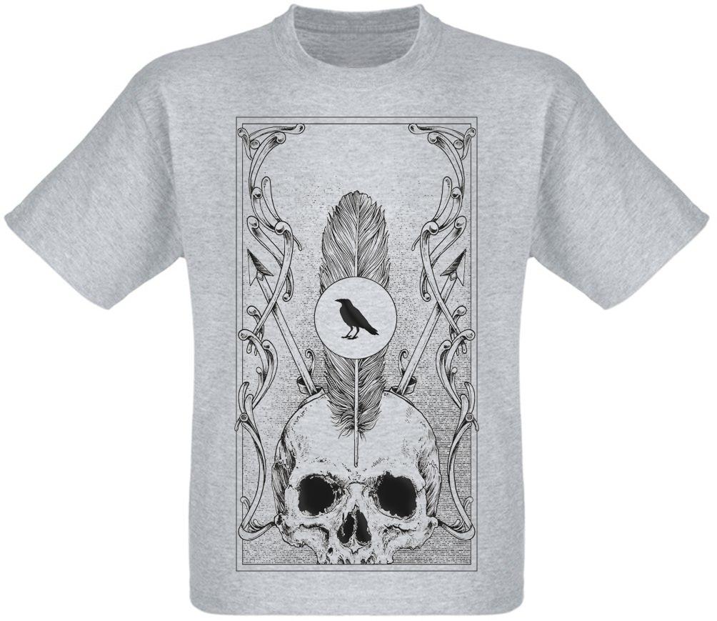 Футболка Skull, Feather, Crow (меланж)