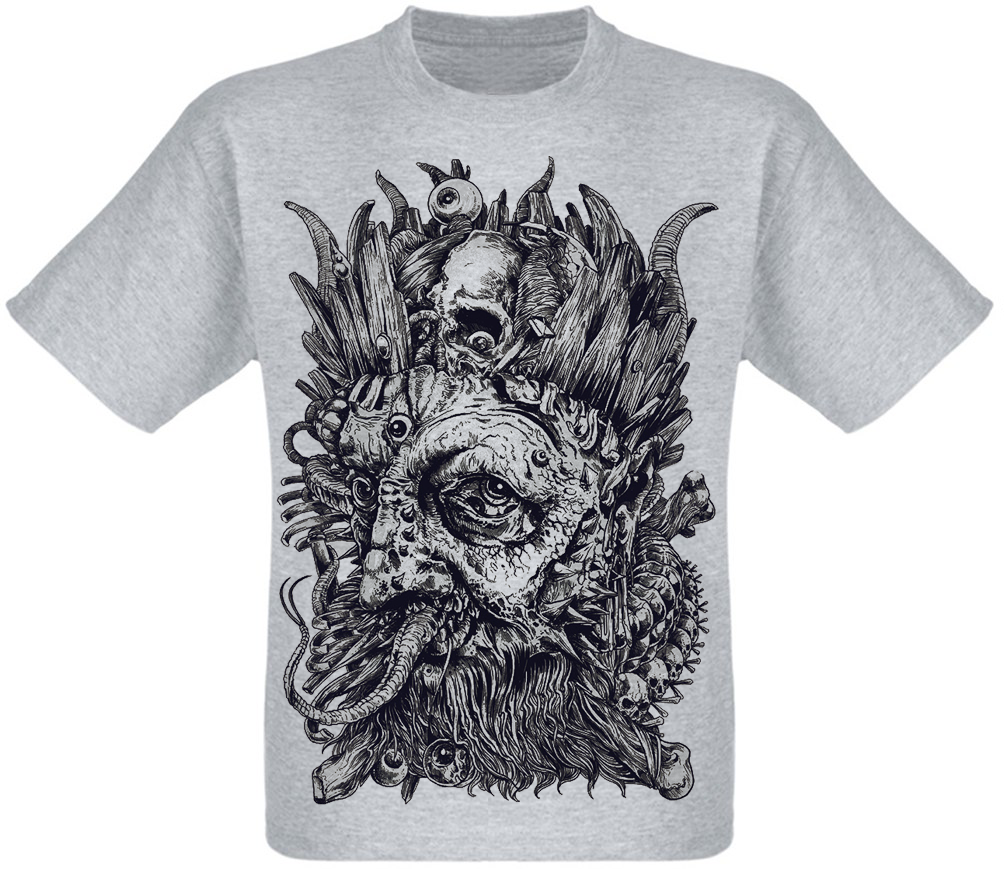 Футболка King Skull (меланж)