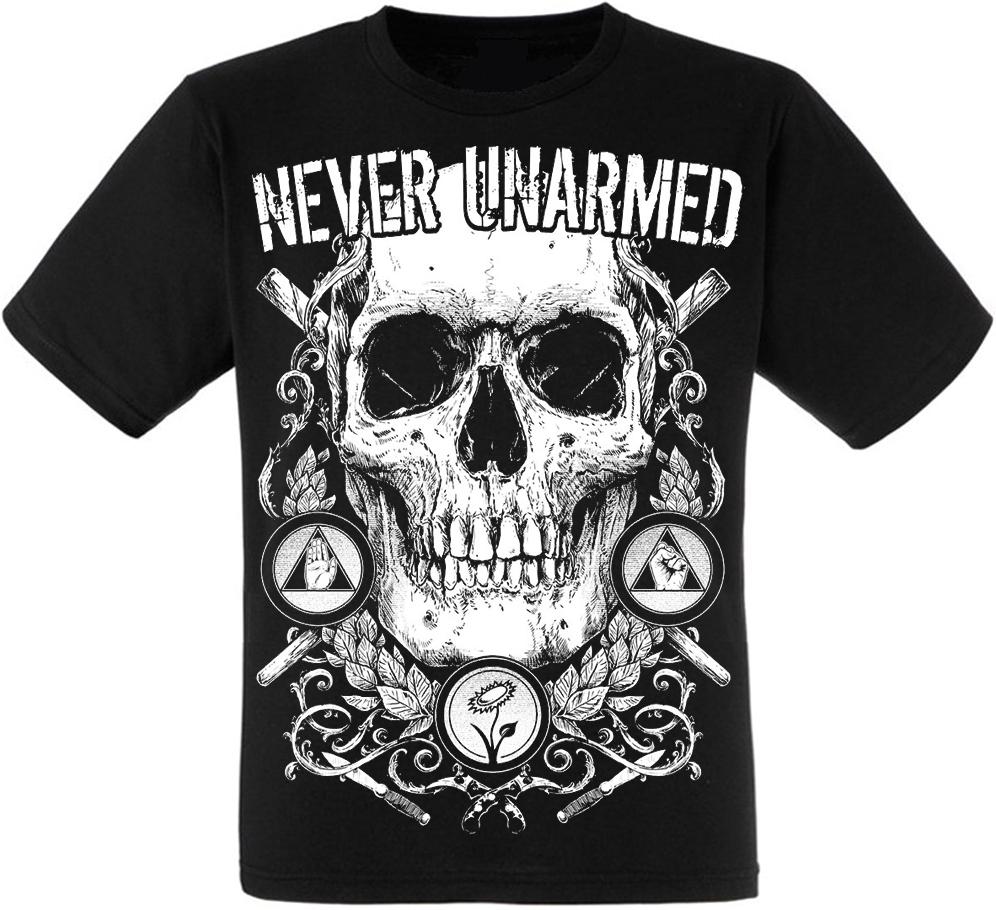 Футболка Never Unarmed