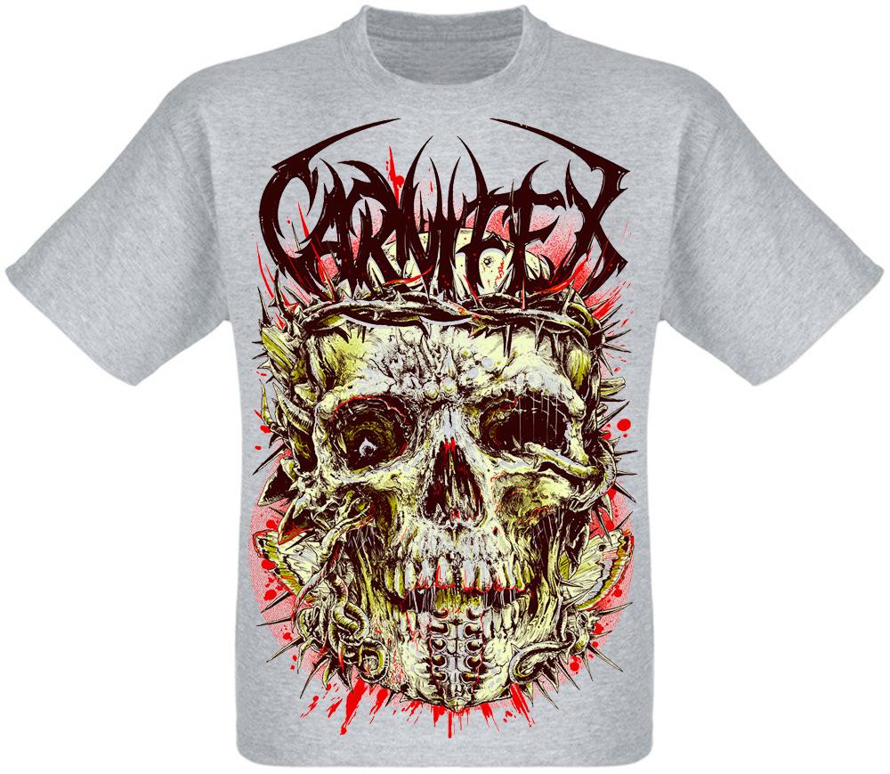 "Футболка Carnifex ""Skull"" (меланж)"
