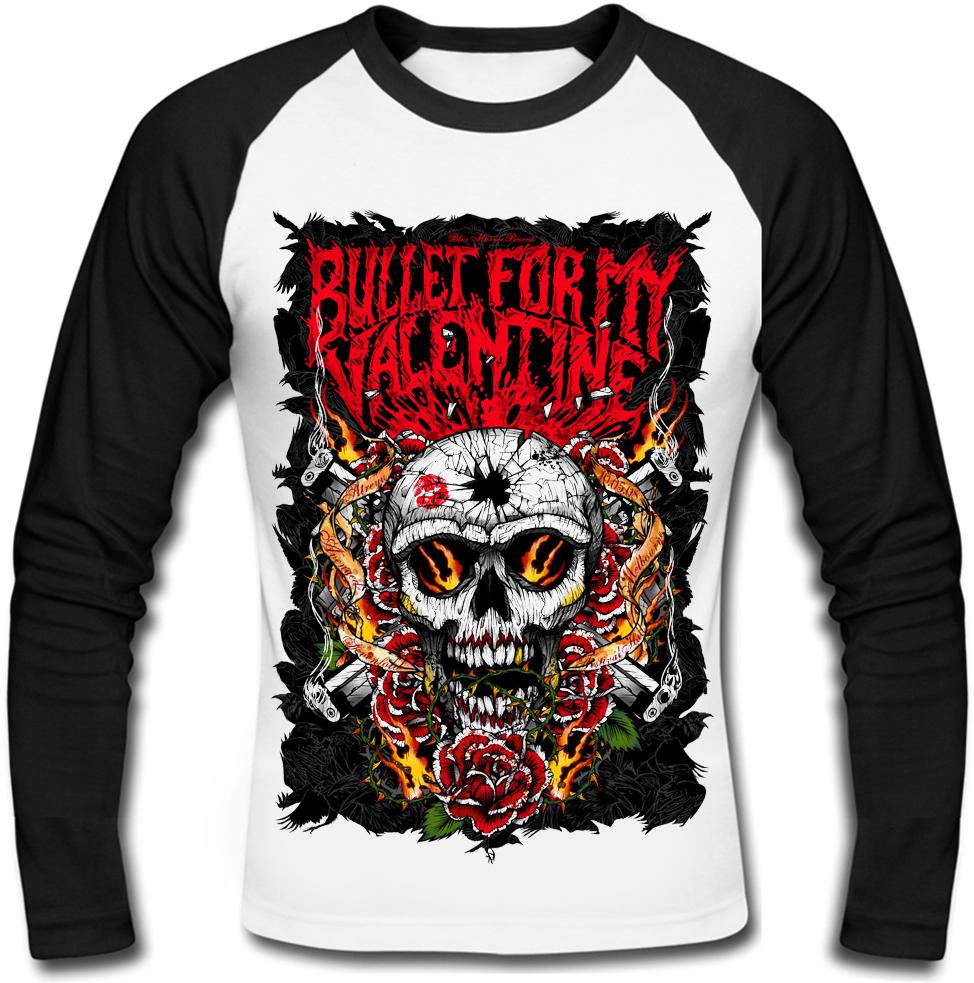 """Футболка с длинным рукавом Bullet For My Valentine """"Skull, Roses And Guns"""""""