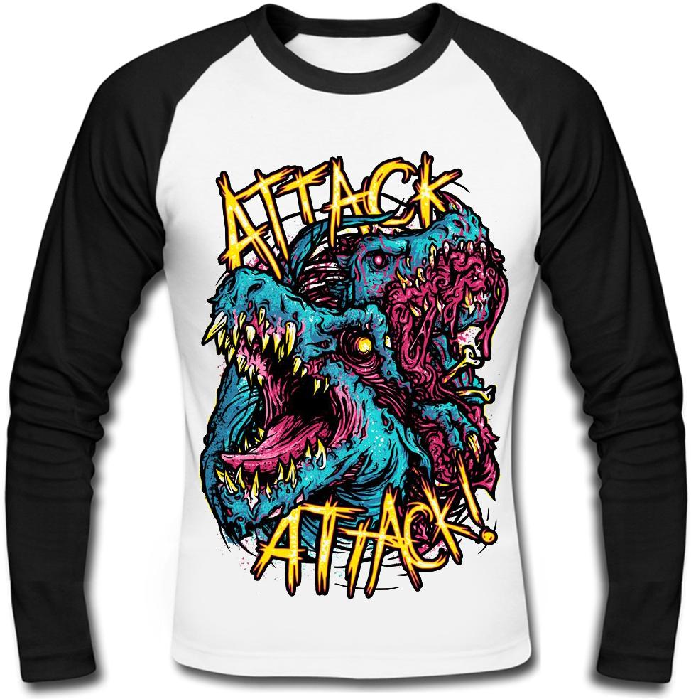 "Футболка с длинным рукавом Attack Attack! ""Zombie Dragons"""