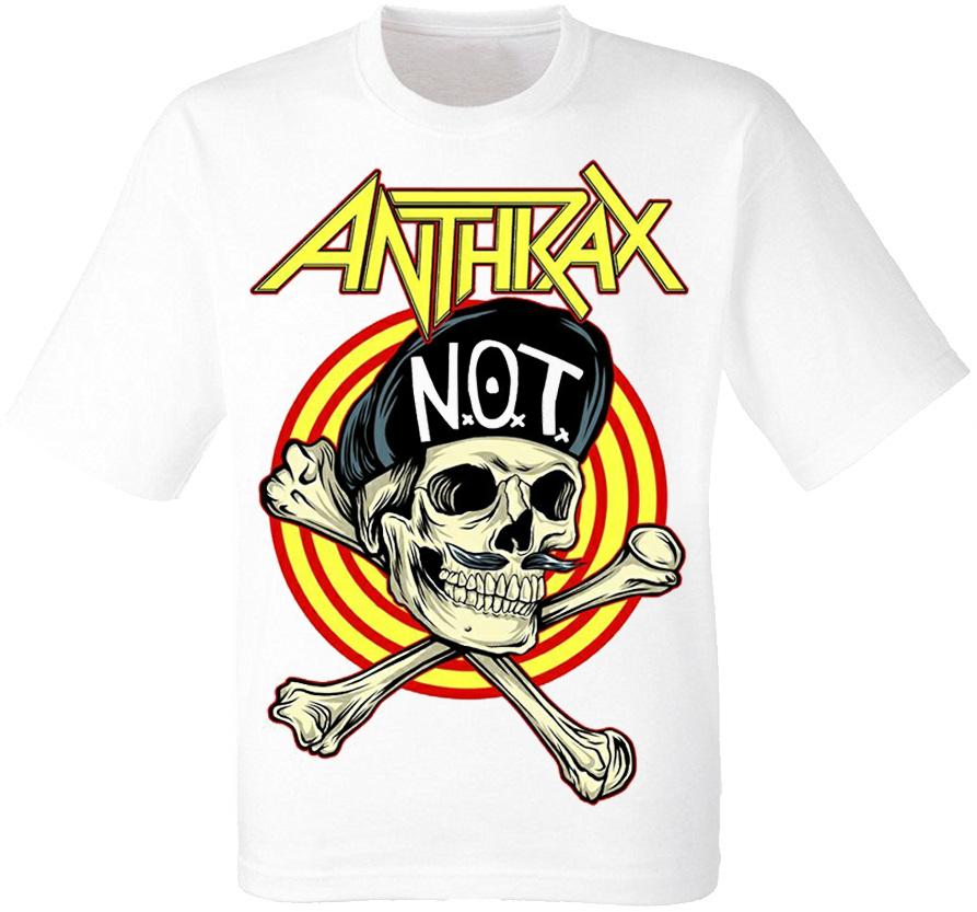 "Футболка Anthrax ""Not Man Skull"" (біла)"