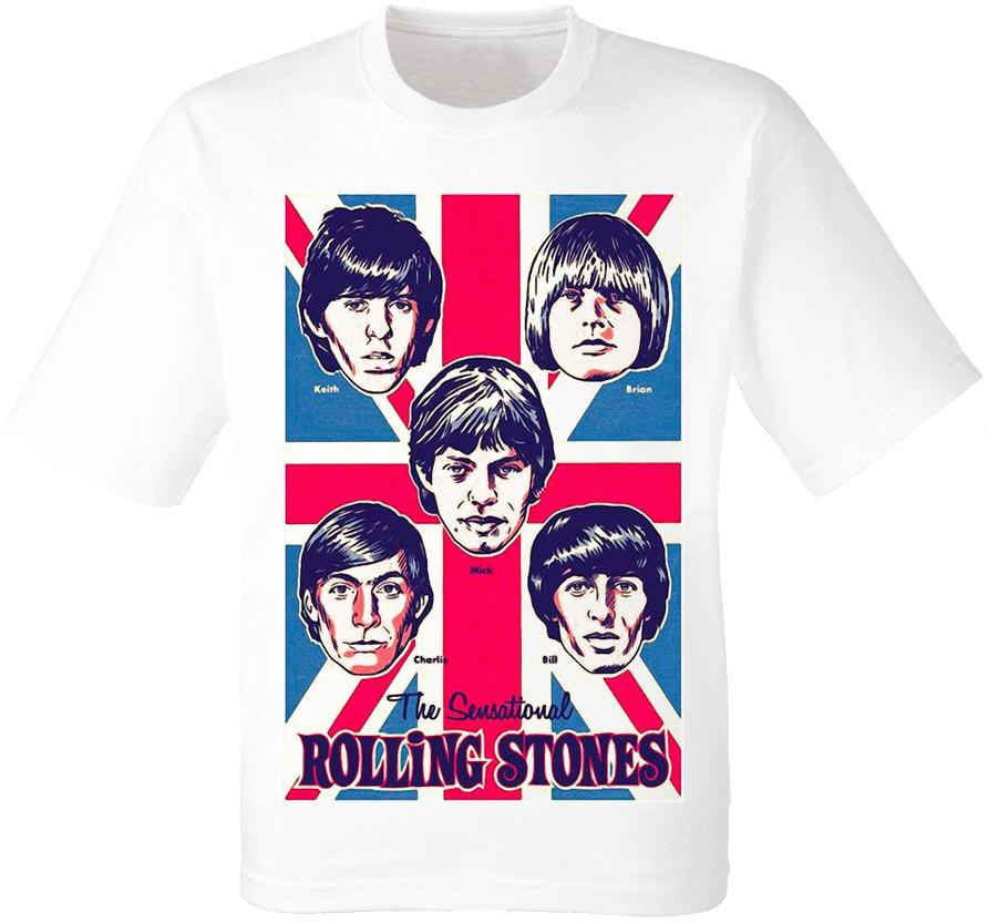 Футболка The Rolling Stones (белая)