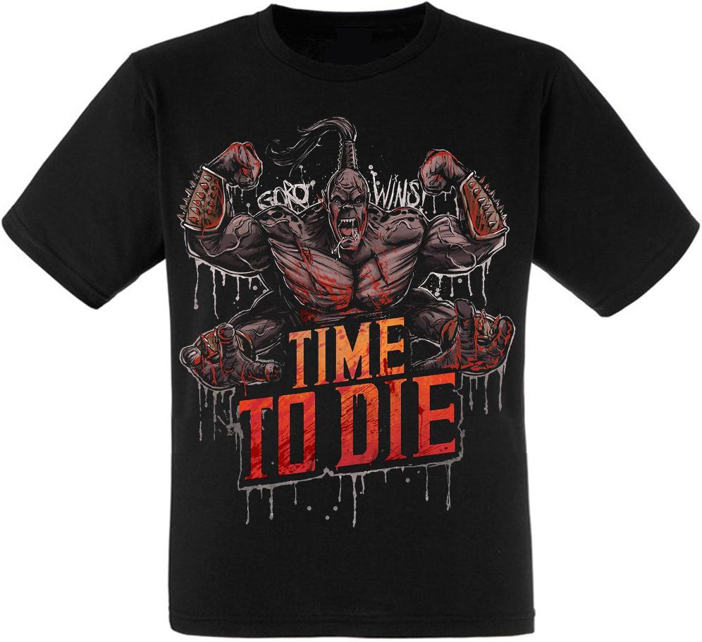 """Футболка Mortal Kombat """"Time To Die"""" (Goro)"""