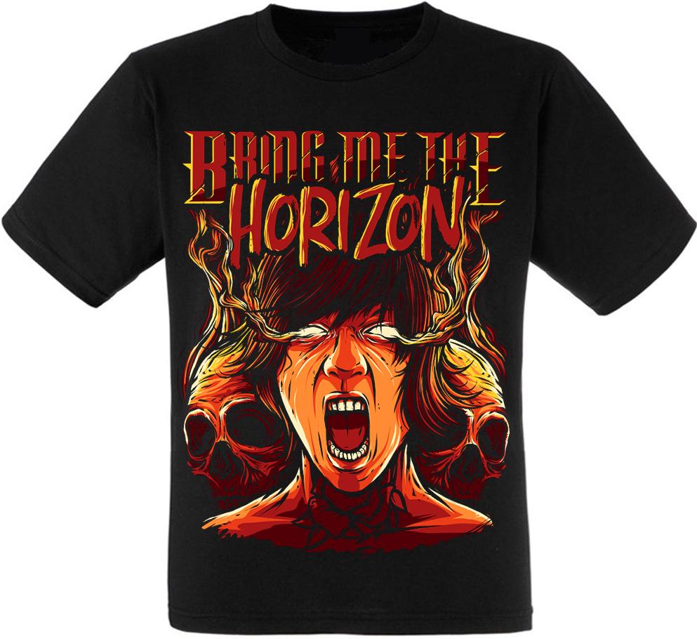 Футболка Bring Me The Horizon (Oliver Sykes with skulls)