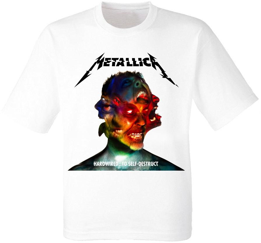 "Футболка Metallica ""Hardwired...To Self-Destruct"" (белая)"