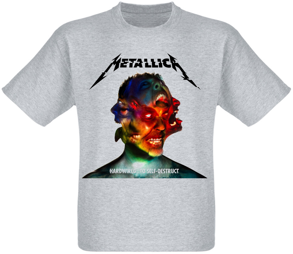 "Футболка Metallica ""Hardwired...To Self-Destruct"" (меланж)"