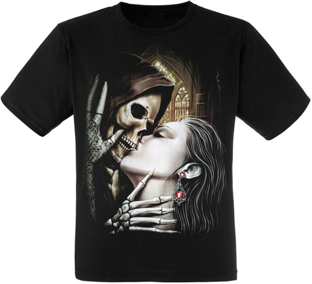 Футболка Death Skull And Girl Kiss