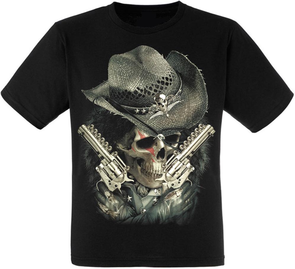 Футболка Cowboy Skull with Guns