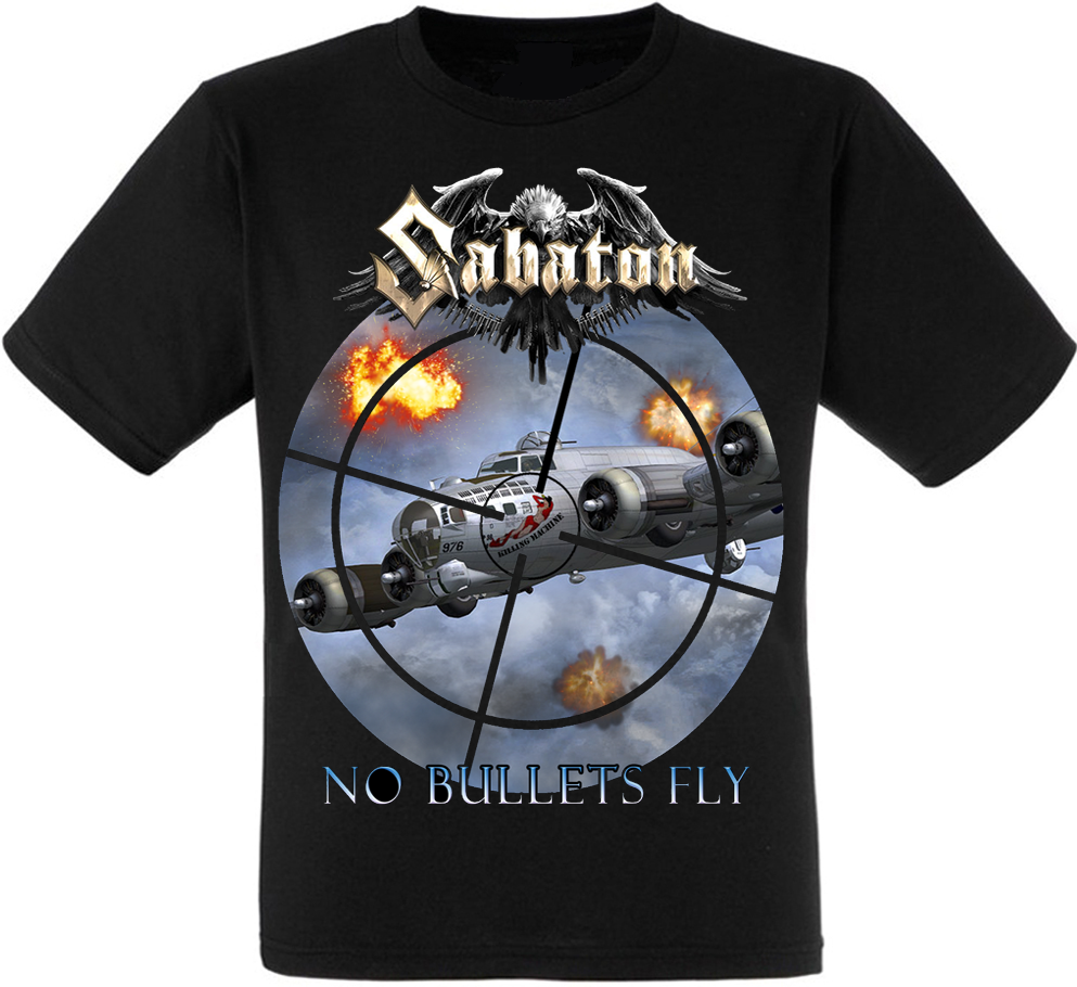 "Футболка Sabaton ""No Bullets Fly"" (односторонняя)"