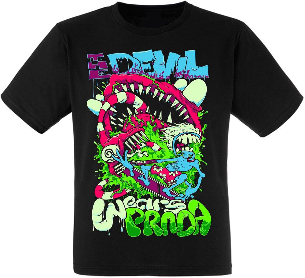 Футболка The Devil Wears Prada (colorful art)