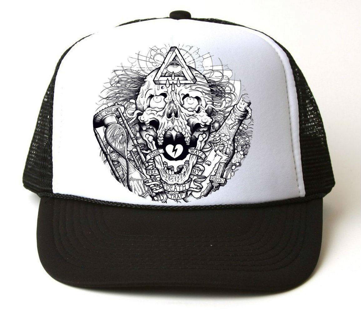 Кепка-тракер Skull Art