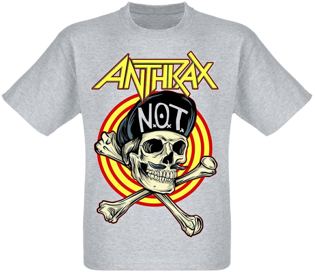 "Футболка Anthrax ""Not Man Skull"" (меланж)"