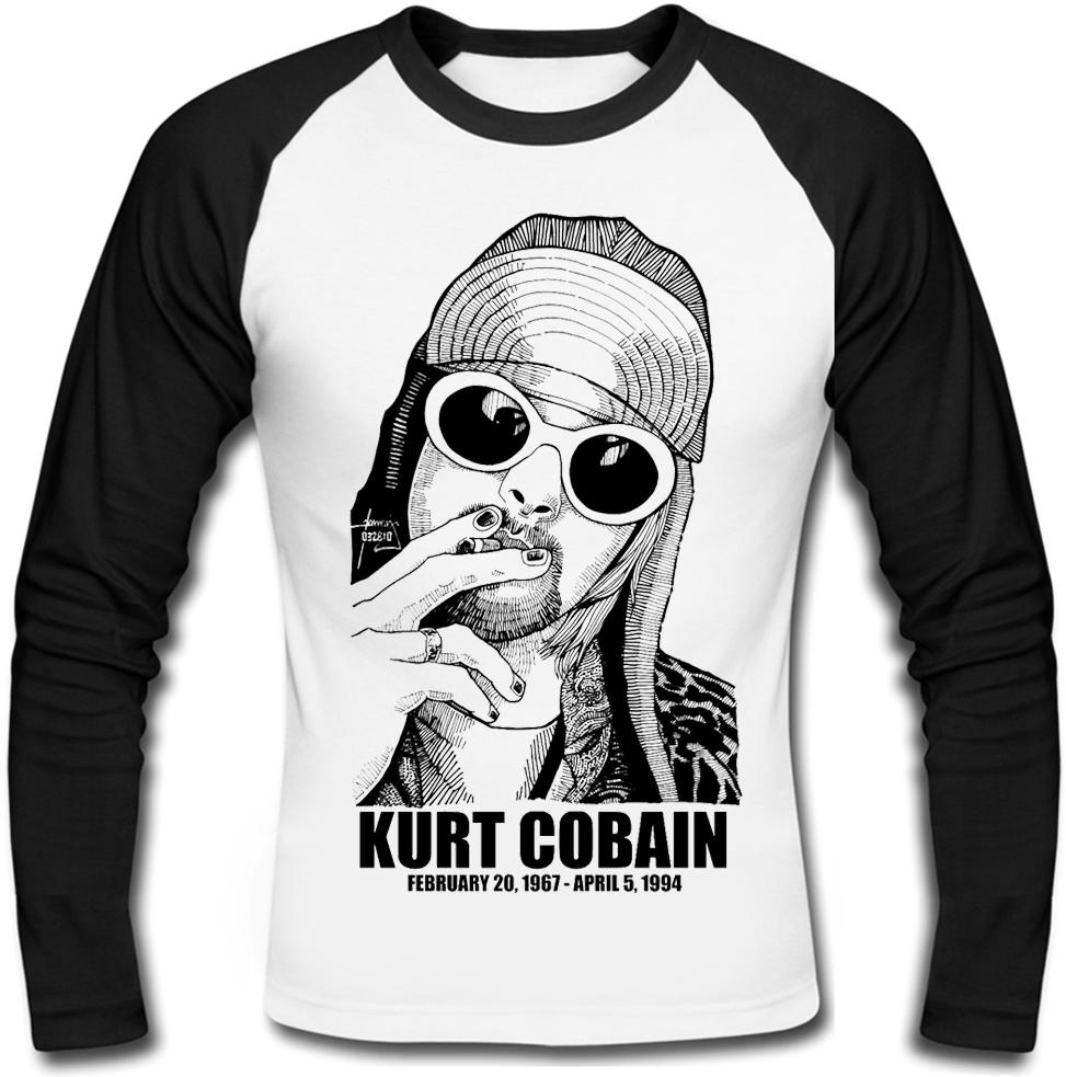 """Футболка с длинным рукавом Nirvana """"Kurt Cobain"""" (1967-1994)"""