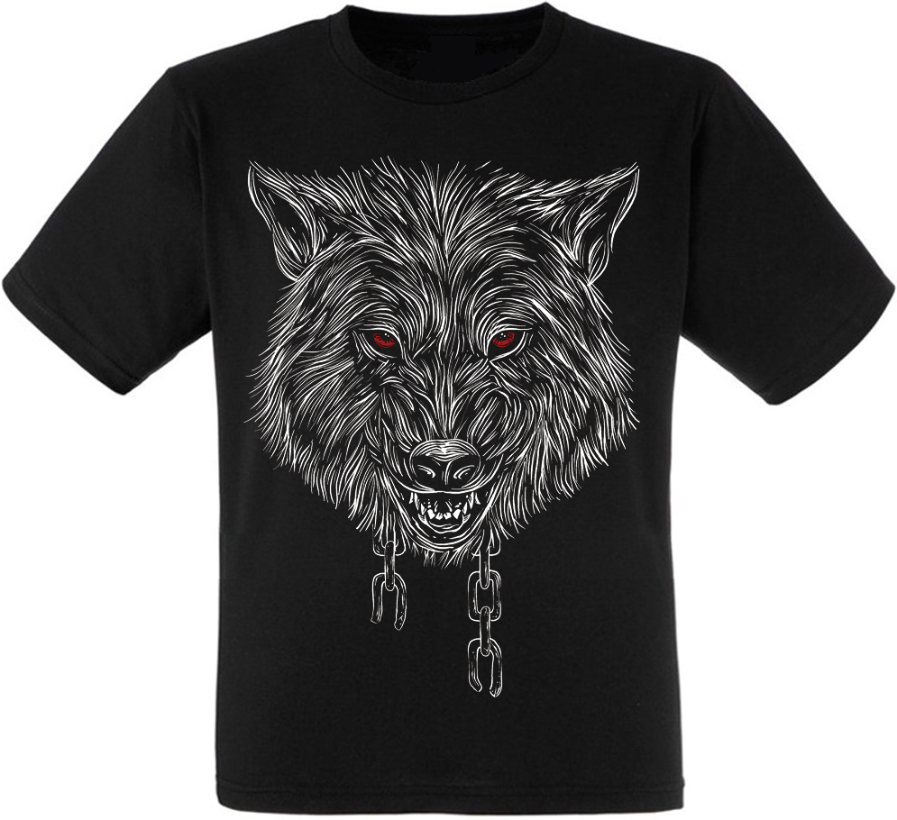 Футболка Wolf With Chain