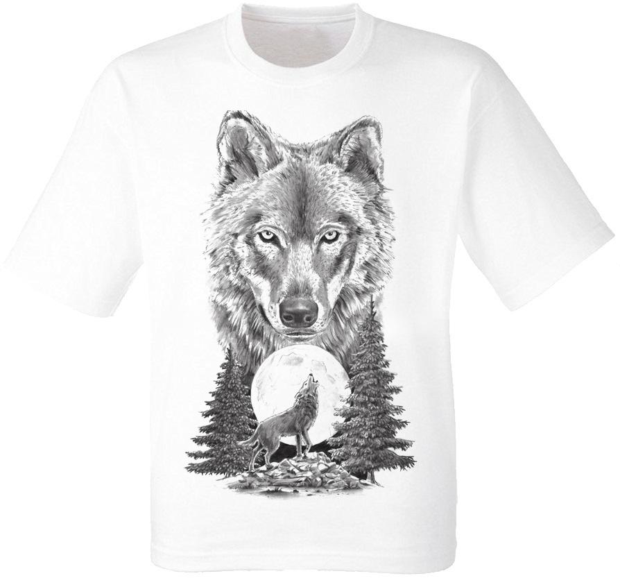Футболка Howling Wolf To The Moon (белая)