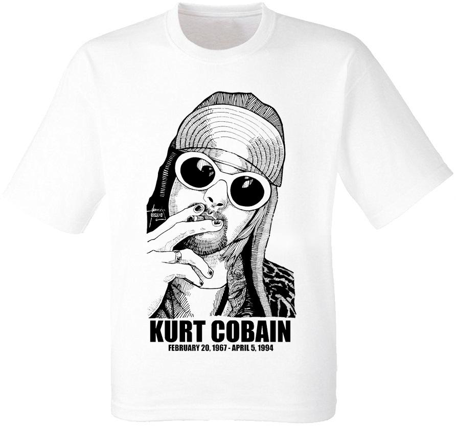 """Футболка Nirvana """"Kurt Cobain"""" (1967-1994) [белая]"""