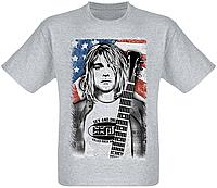 "Футболка Nirvana ""Smells Like Teen Spirit"" (Kurt Cobain) [меланж]"