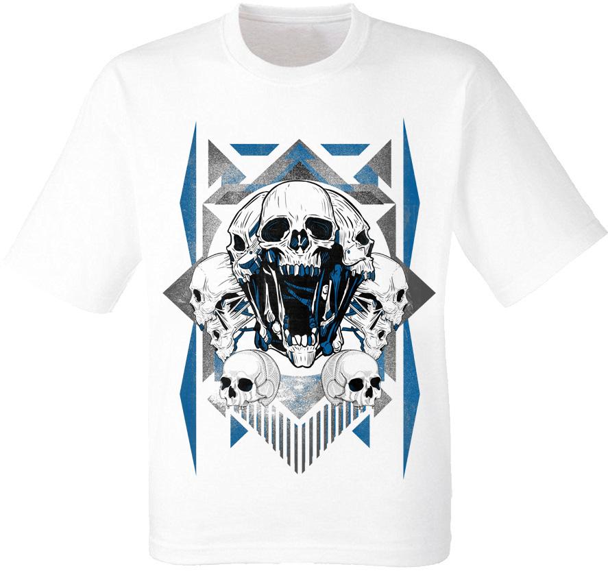 Футболка Skulls Blue