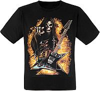 Футболка Skull Fire Guitar