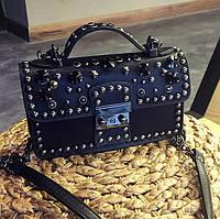 Черная женская мини сумка