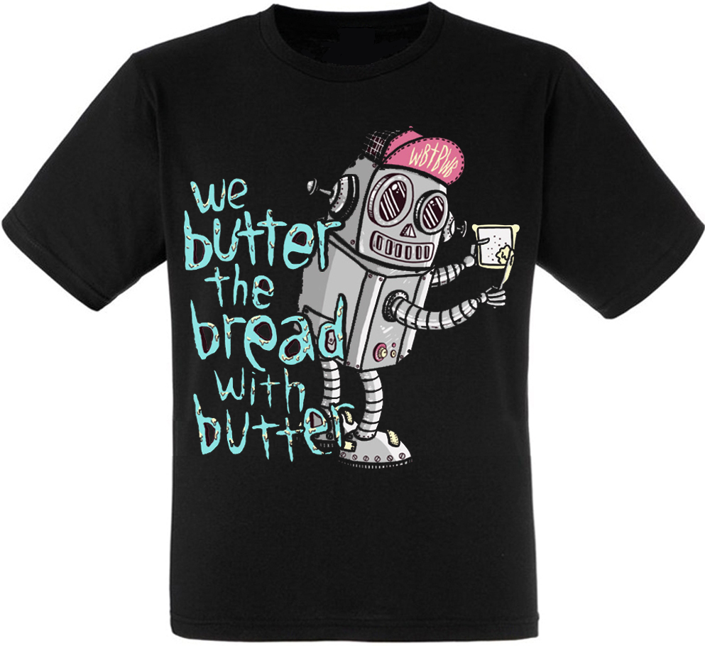"""Футболка We Butter The Bread With Butter """"Robot"""""""