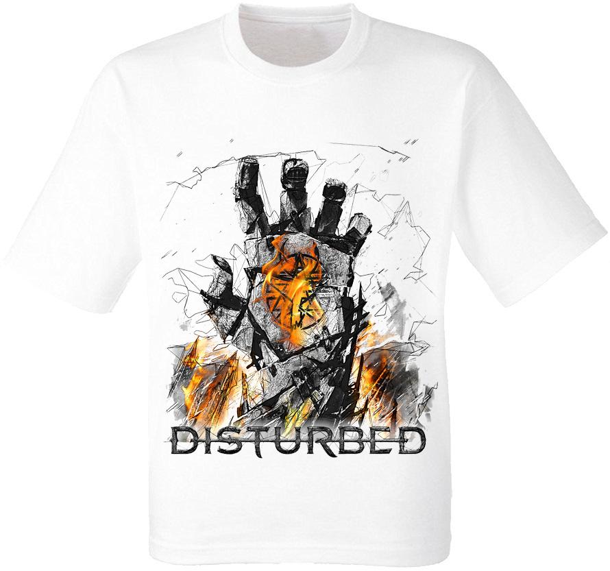 "Футболка Disturbed ""Smolder"" (белая)"