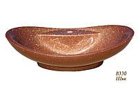 Овальный умывальник на столешницу коричневый 64 см Snail Гармония Шик