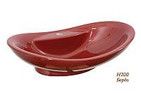 Умывальник - чаша на столешницу 64 см Snail Гармония Бордо