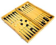 Набор нарды и шахматы из бамбука (35х17 см)