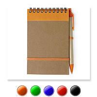 Эко блокнот V2335 / es95541, А6, с ручкой, белый блок в линейку