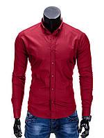 Мужская Рубашка R219 M, Бордовый