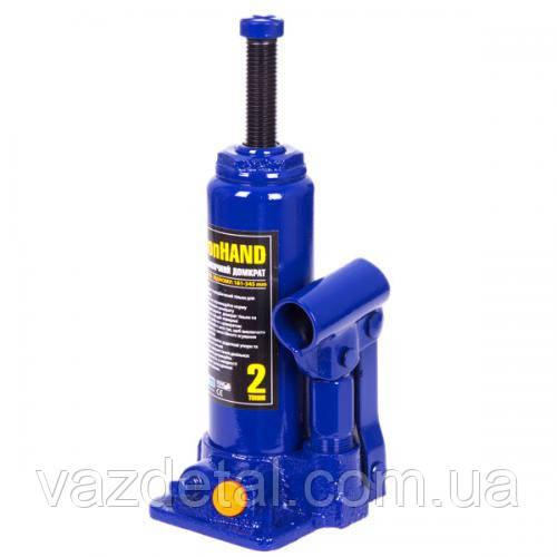 Домкрат гидравлический 2Т  181-345мм  (коробка) Vitol