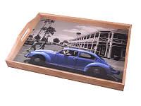 Поднос деревянный с ручками Lefard Ретро авто 30х41х6 см, 259-090