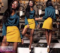 Шёлковая блуза-туника Кантили, фото 1